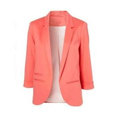 $23.59 Women's Slimming Blazer With Solid Color and No Button Design