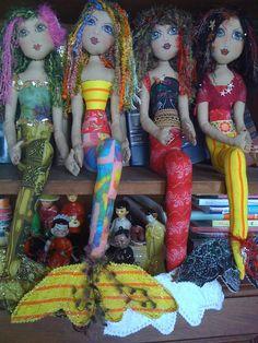 Whimsical Cloth Mermaid Doll. $90.00, via Etsy.