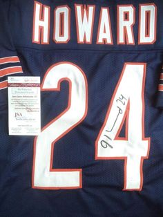 a95a296cb96 JORDAN HOWARD BEARS SIGNED AUTOGRAPHED CUSTOM JERSEY JSA WP514301 South  University, Bear Signs, Sports