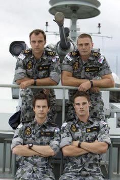 Sea Patrol - Season 3 - Top Row: Swain and Buffer, Bottom Row:  RO and Spider