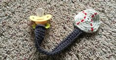 Ravelry: Crochet Pacifier Clip pattern by Grey Walls, Blue Couch | diy for baby | Pinterest | Ravelry, 패턴 및 크로셰