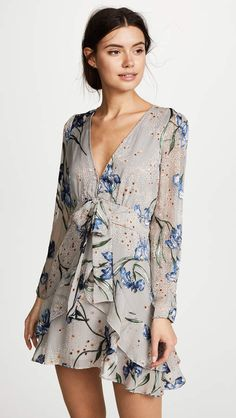 Cleo Floral Party Dress #print#line#Mini