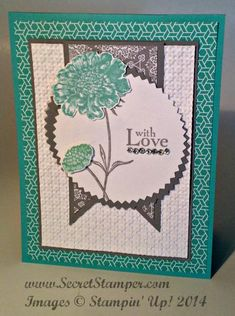 LOVE these colors!  Field Flowers in Eastern Elegance by mageed1 - Cards and Paper Crafts at Splitcoaststampers