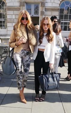 Millie Mackintosh and Rosie Fortescue from Made in Chelsea at LFW.