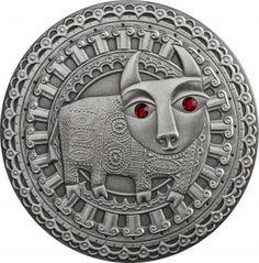 Srebrna Moneta - Byk, 20 rubli, Seria: Znaki zodiaku