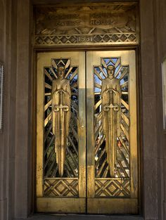 The art deco door of the Cochise County Courthouse in Bisbee, Arizona...