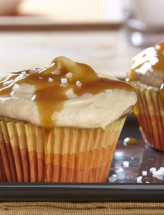 Salted Caramel Cupcakes - get your sweet and salty fix in with a single dessert recipe. Check it out here.