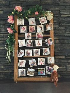 Guest Baby Photo Frame - Bohemian Baby Shower Ideas - Photos