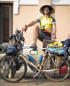 Love this hat worn while bicycle touring in sunny destinations
