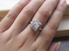 ON SALE 10 % Regenbogen Mondstein Sterling Silber von Nichejewelry