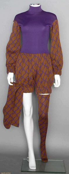 Rudi Gernreich Romper & Stockings, 1960s. For upcoming vintage and antique fashion auction. #vintage #1960s
