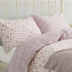 Mille Fleurs Floral Pink Cotton Bedlinen at LAURA ASHLEY