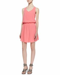 Splendid Racerback Blouson Dress - Neiman Marcus