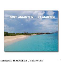 Sint Maarten - St. Martin Beach Scene Postcard (Sold - SPAIN) Thank you!