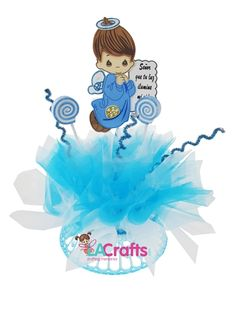 Baptism Centerpiece for boys. Customer DIY. Arts and Crafts. Click to view the list of materials to make this DIY project!