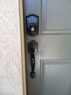 I love a combo front door lock