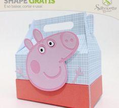 FREE from Silhouette Brazil peppa pig party food box favour gift » Shape 24: Caixa Peppa Pig by Nilmara Quintela - Silhouette Brasil