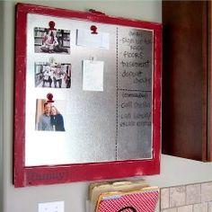 Sheet metal message board