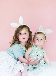 Super cute bunny ears headband DIY