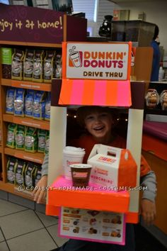 homemade halloween costumes halloween costumes for teens Coolest Homemade Dunkin Donuts Drive Thru Costume. Coolest Homemade Dunkin Donuts Drive Thru Costume. Halloween Costumes Kids Homemade, Classic Halloween Costumes, Halloween Kids, Halloween Makeup, Halloween Activities, Halloween 2020, Halloween Stuff, Costume Halloween, Costume Bonbon