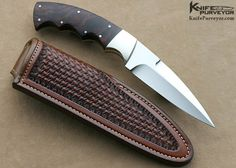 "Dr. Fred Carter Custom Knife Finger Grooved Desert Ironwood Small Boot Knife. Blade Length: 	4 1/16"" OverallLength: 	8 5/16"" Closed Length: 	N / A Blade Steel: 	Hand Rubbed Satin Finished 440-C Scale Material: 	Desert Ironwood Bolster Material: 	Hand Rubbed Satin Finished Nickle Silver"