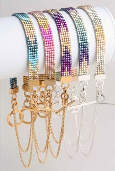 beaded native american bracelets with toggles