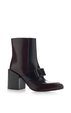 Black Bow Boot by MARNI for Preorder on Moda Operandi