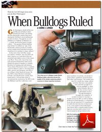 FREE Revolver Compilation Download You're one quick step away from getting your FREE DIGITAL PDF 6-Shooter Revolver Compilation from Gun Digest! 6 BIG Sixgun Articles in this Compilation including When Bulldogs Ruled, The Colt Official Police and S&W Military & Police, The .44 Special Begins Its Second Century, Sixguns and Others: Handguns Today, The N-Frame Smith & Wesson Revolver, Revolvers and Others. Ar Accessories, Smith N Wesson, British Bulldog, Military Police, Cool Guns, Guns And Ammo, Love To Shop, Pistols, Revolver