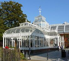 """""""A traditional conservatory at the Horniman Museum in London"""" Conservatory (greenhouse) - Wikipedia, the free encyclopedia"""