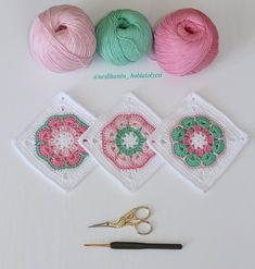 Crochet baby blanket crochet baby afghan in purple aqua – Artofit Baby Afghan Crochet, Crochet Quilt, Granny Square Crochet Pattern, Crochet Cross, Crochet Squares, Crochet Motif, Crochet Stitches, Crochet African Flowers, Tricot
