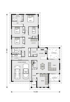 Parkview Home Designs in Sydney - North (Brookvale) Double Garage, Humble Abode, Coastal Living, My Dream Home, Interior Architecture, House Plans, House Ideas, Floor Plans, House Design