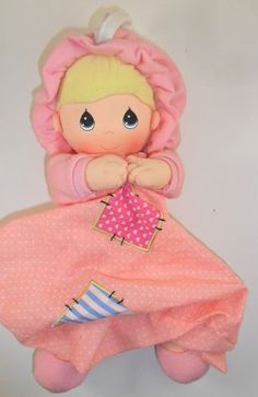 Precious Moments Musical Doll Crib Toy Pink Brahms Lullaby Girl Baby Blanket