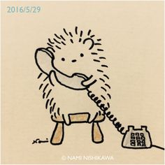 Says hedgehog. Yes hello I'm calling to tell you I'm coming to adopt you. Hedgehog Art, Hedgehog Drawing, Cute Hedgehog, Hedgehog Illustration, Illustration Art, Creation Art, Cute Doodles, Cute Creatures, Easy Drawings