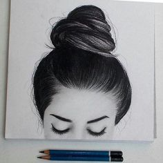 Wahnsinnig kreative coole Dinge zu zeichnen heute 24 Hair Drawings, Drawing Hair, Tumblr Drawings, Love Drawings, Amazing Drawings, Realistic Drawings, Painting & Drawing, Amazing Art, Art Tips