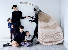 Bug Family Affair photography by Tim Walker large moth Vogue Japan September 2012 - saved by Chic n Cheap Living