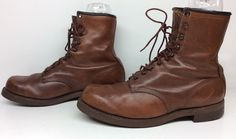VTG MENS CHIPPEWA WORK LEATHER BROWN BOOTS SIZE 10.5 4E #Chippewa #WorkSafety