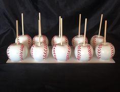 Baseball chocolate covered Apples