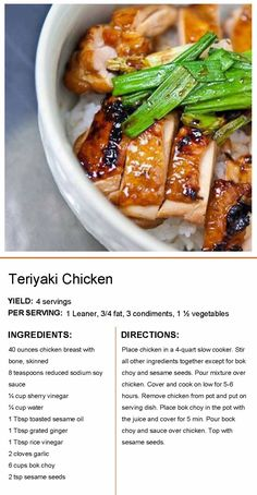 Lean Protein Meals, Lean Meals, Bright Line Eating Recipes, Slow Cooker Recipes, Cooking Recipes, Asian Recipes, Healthy Recipes, Clean Eating, Healthy Eating