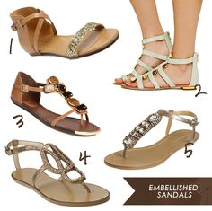High to Low: Embellished Sandals // Follow the link to see which are which pricepoint