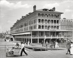 "The Jersey Shore circa 1907. ""Haddon Hall and Boardwalk, Atlantic City."""