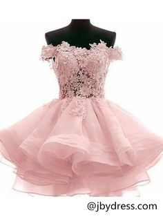 Custom Made Off Shoulder Pink Lace Prom Dresses, Pink Lace Bridesmaid Dresses, Homecoming Dresses