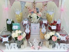 Our ditsy print sweet cart with pastel peaches, pinks and blues, seen here at Chippenham Park #ChippenhamParkEvents