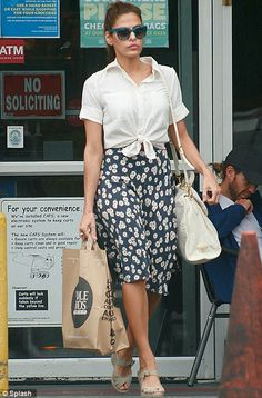 knotted shirt and skirt
