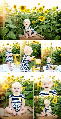 Caroline and Sunflowers