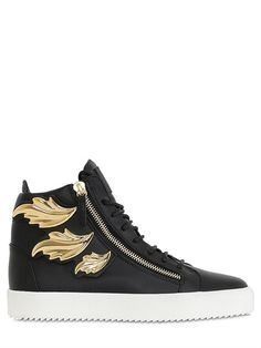 Gold Leaves Sneakers by Giuseppe Zanotti
