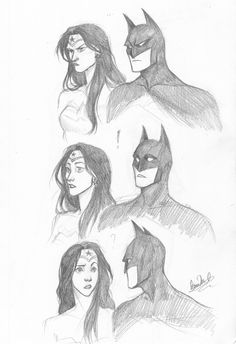 "just-cuz-rivaldi: "" It's funny how Batman and Wonder Woman are two of my favorites, yet I've never actually drawn them together before. This was also an excuse to practice some expressions. I'm not very good with expressions. "" Niiice. I can..."