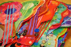 PAINTED PAPER: Mexican Guitars  Lucky students have this teacher.  Beautiful work & inspiration!