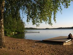 The beach of Jupperi (Espoo, Finland).