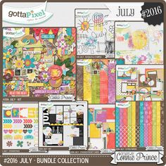 #2016 July - Bundle Collection :: Gotta Pixel Digital Scrapbook Store by Connie Prince