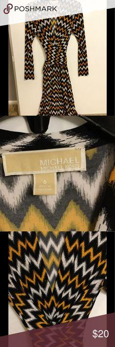Michael Kors Wrap Around Dress Beautiful Dress ! Michael Kors Dress. Wrap around dress. Michael Kors Dresses Long Sleeve